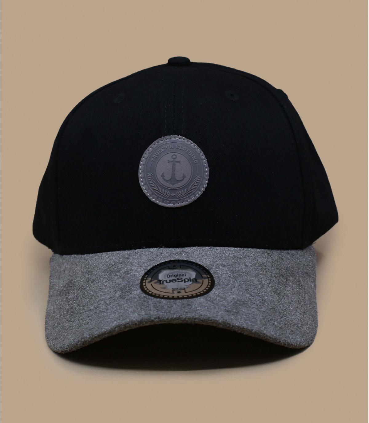 casquette noire visière cuir