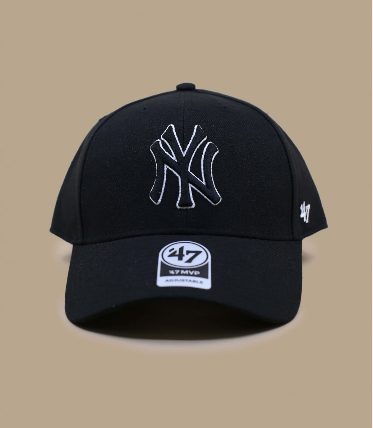 casquette NY noir laine