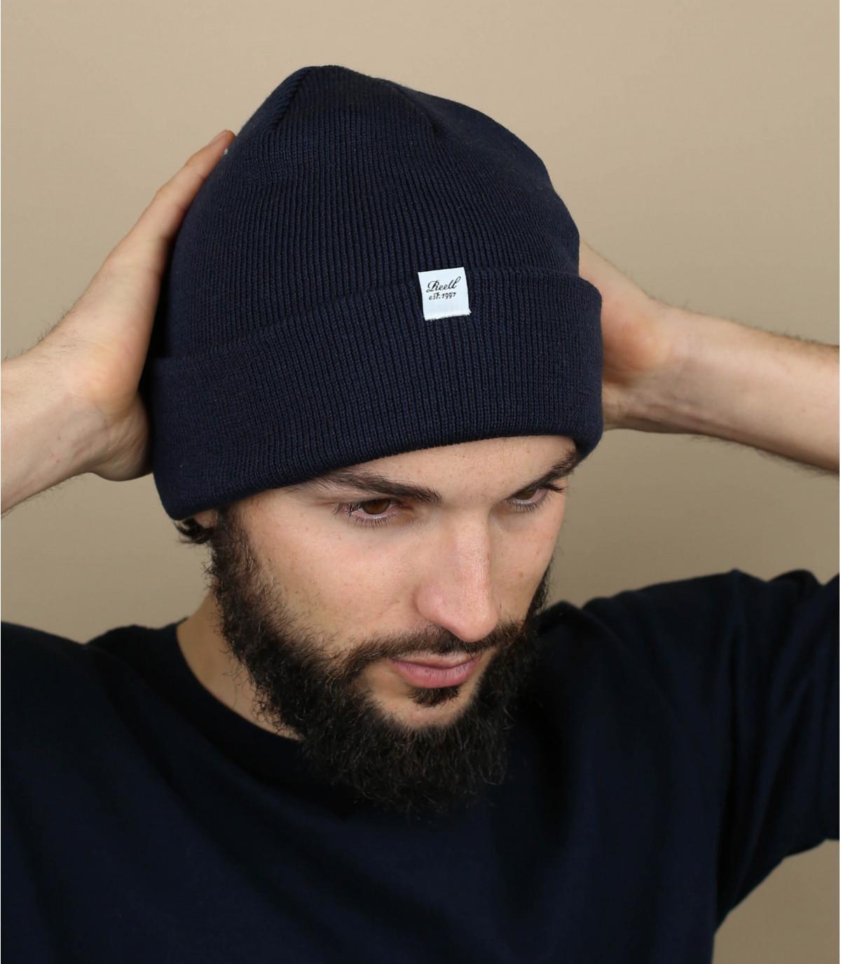 bonnet revers bleu Reell