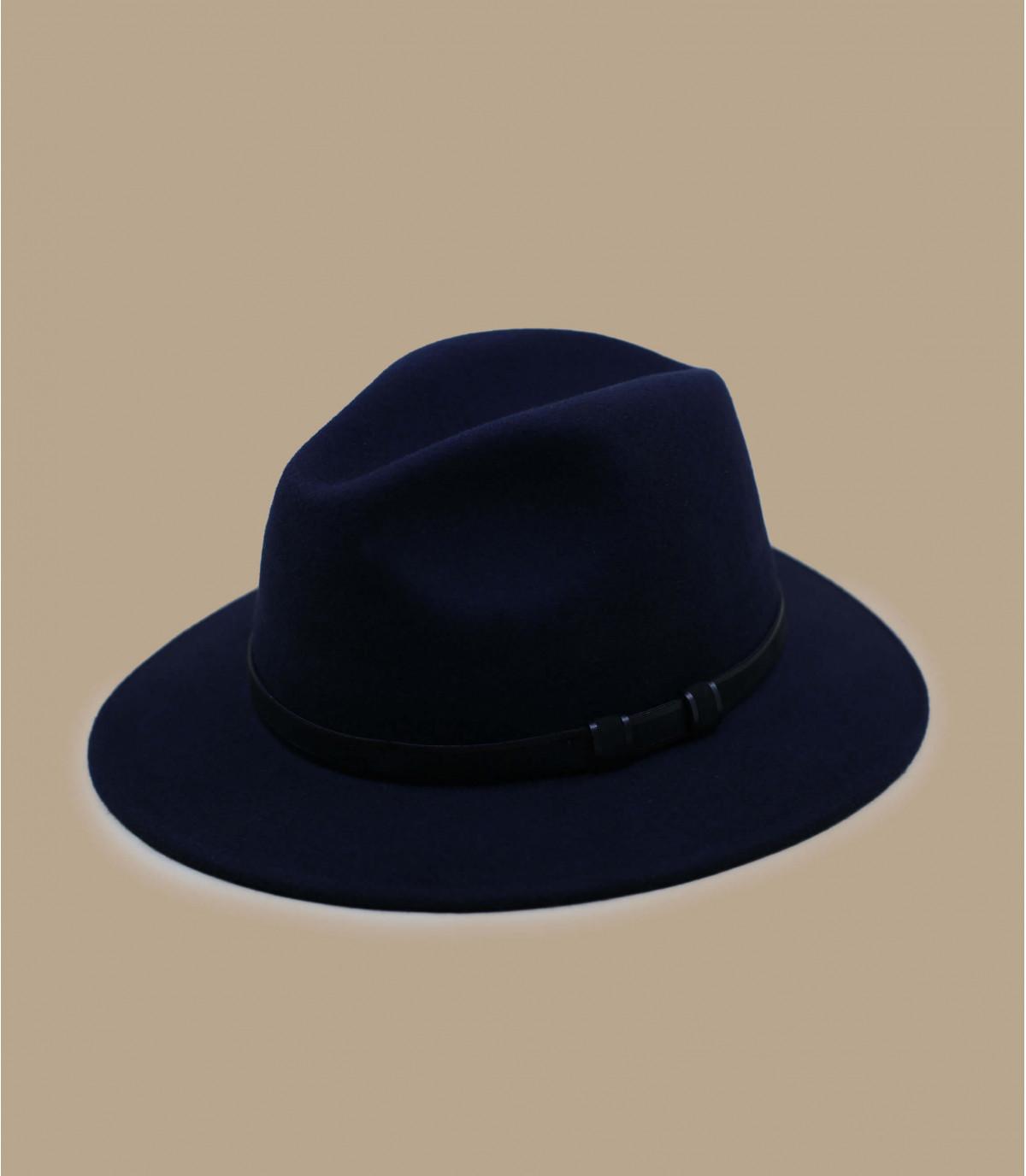 fédora bleu laine