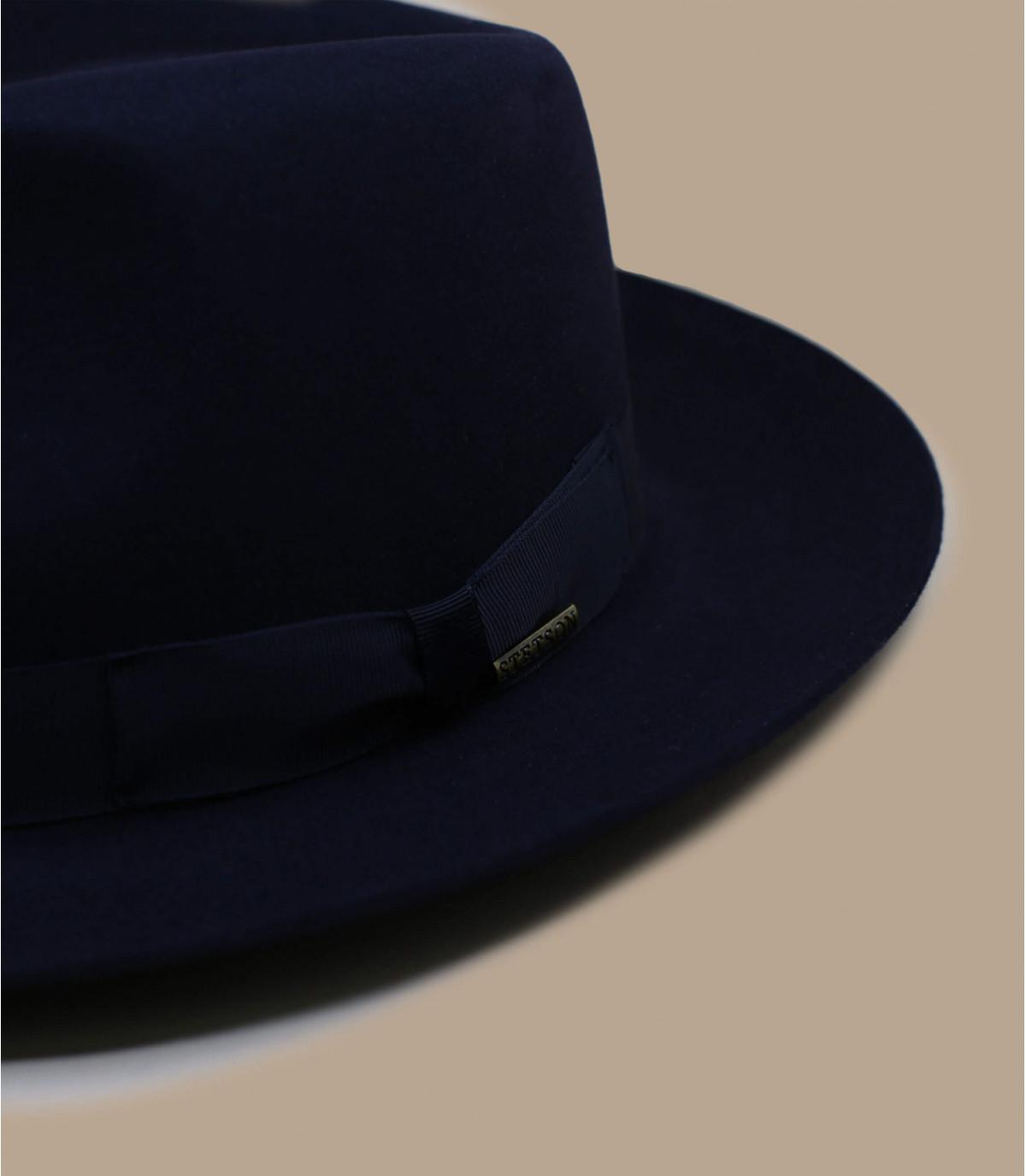 Fedora Stetson bleu