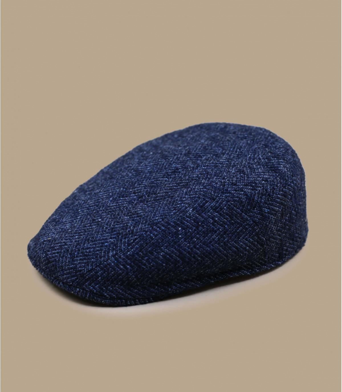 béret bleu laine chevrons