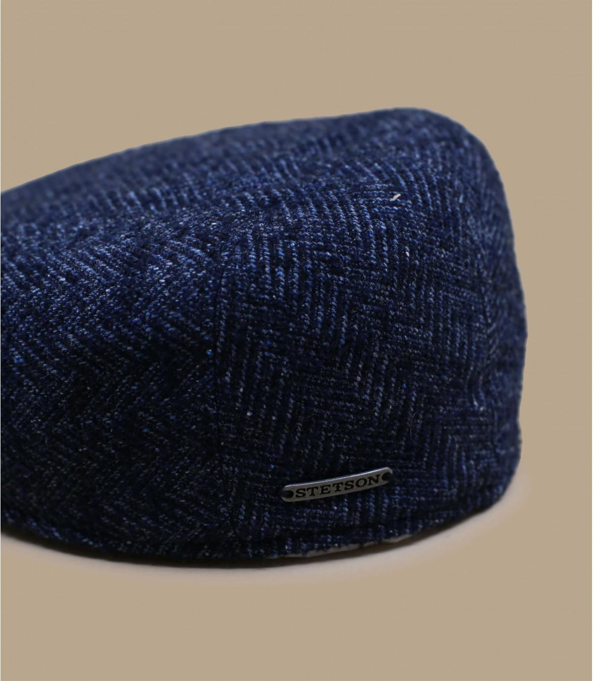 Détails Ivy Cap Virgin Wool blue herringbone - image 2