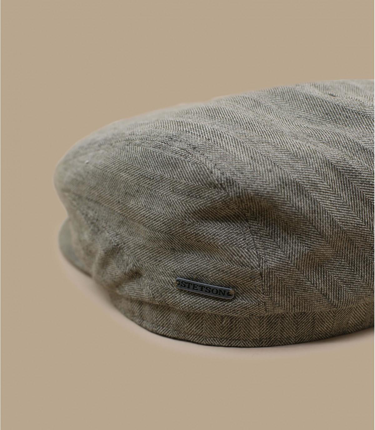 Détails Driver Cap Cotton Linen olive - image 2