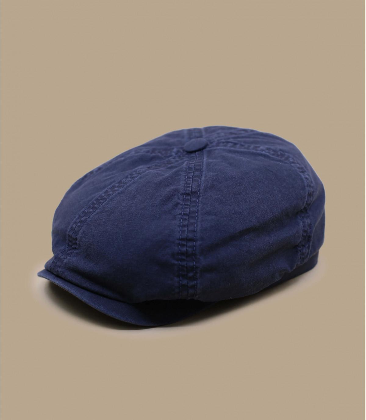 béret gavroche coton bio bleu