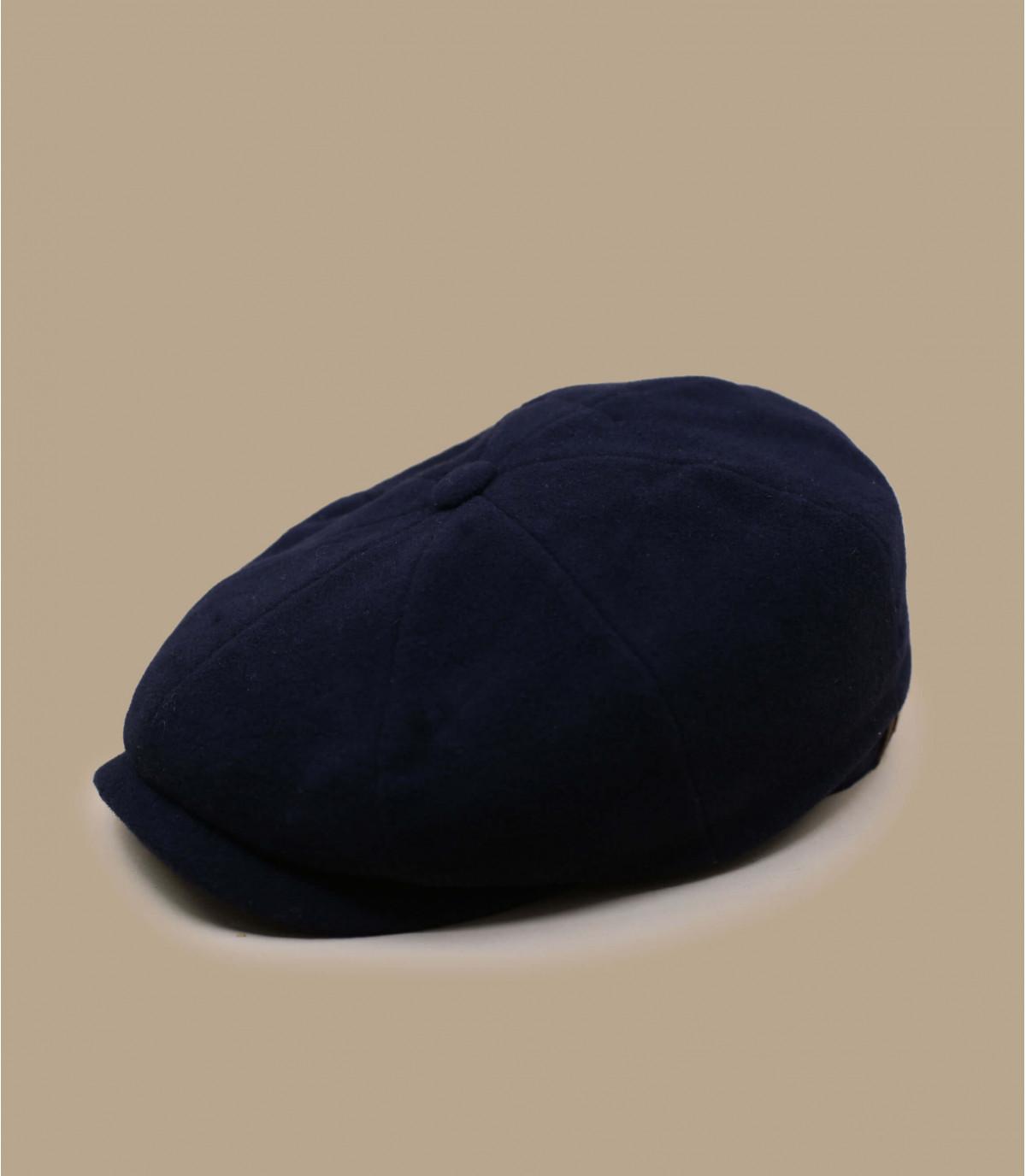 casquette gavroche bleu laine