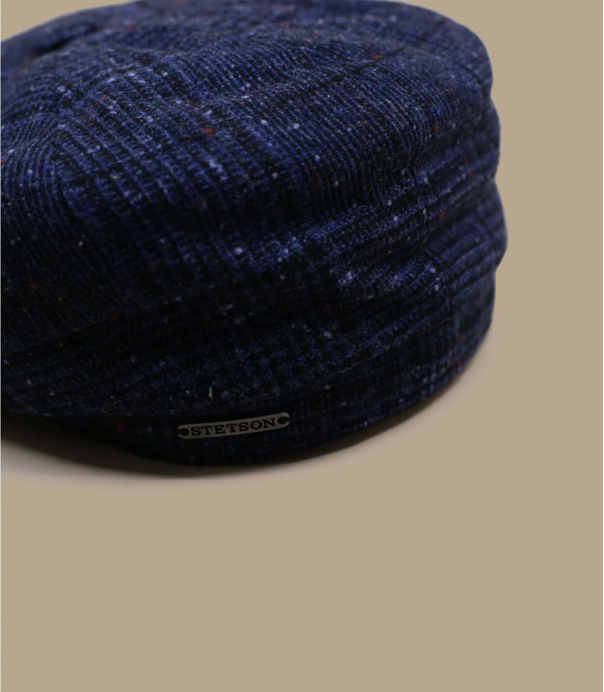 casquette gavroche bleu carreau