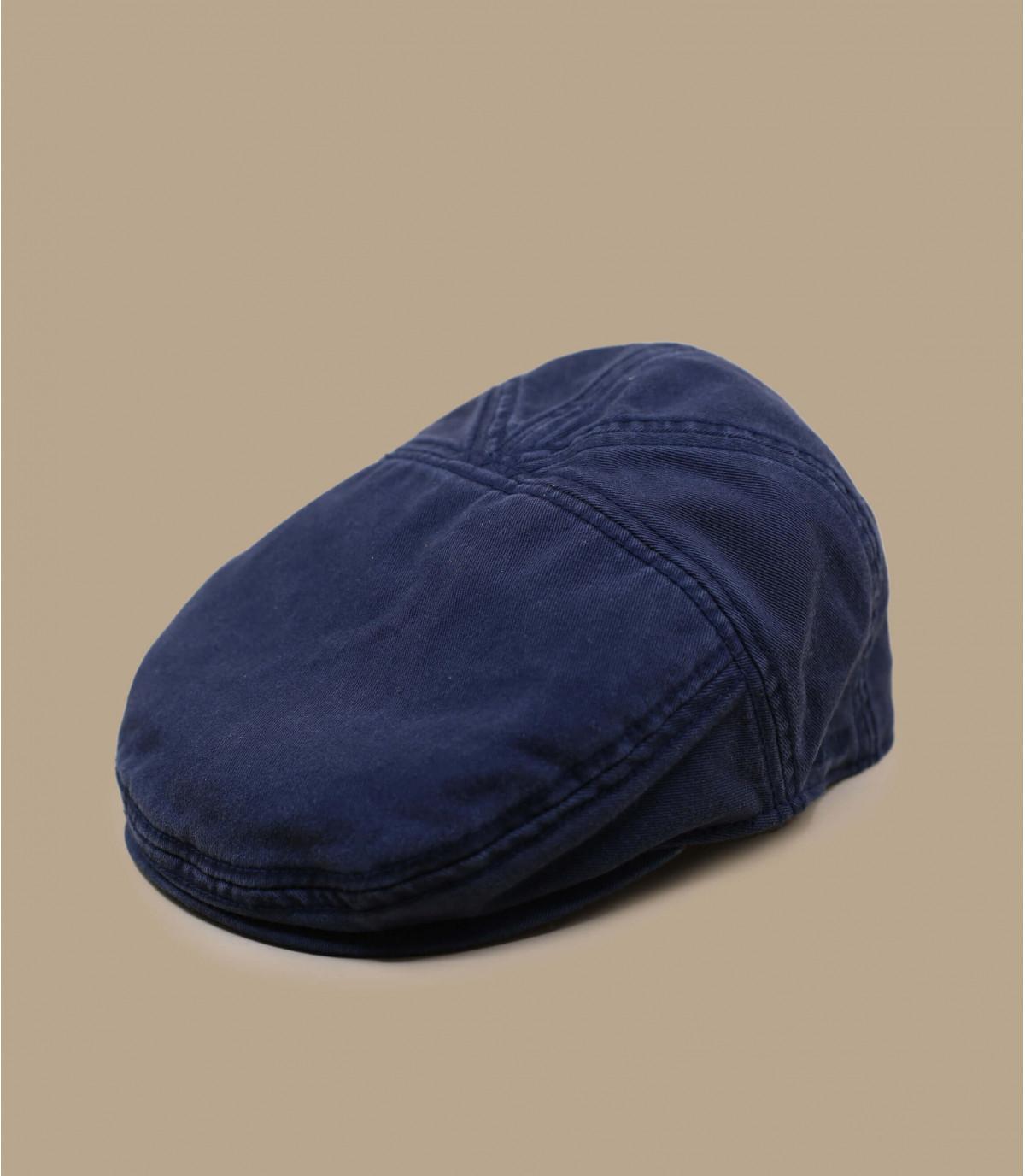 casquette plate coton marine