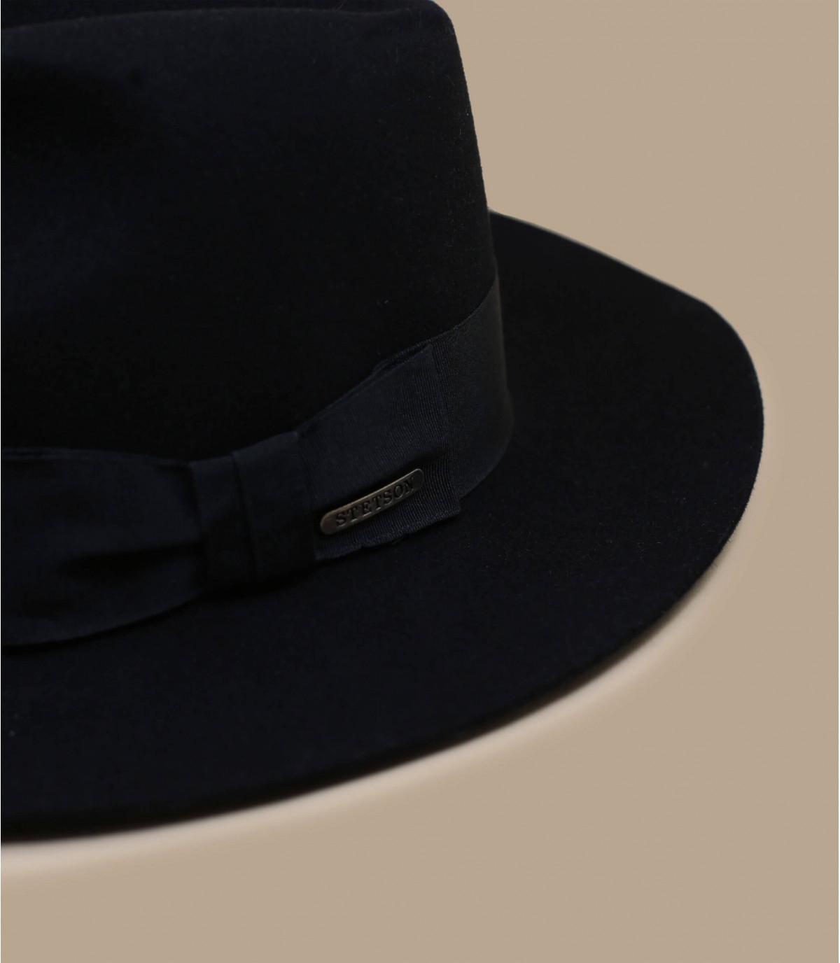 chapeau femme stetson noir iona black par stetson. Black Bedroom Furniture Sets. Home Design Ideas