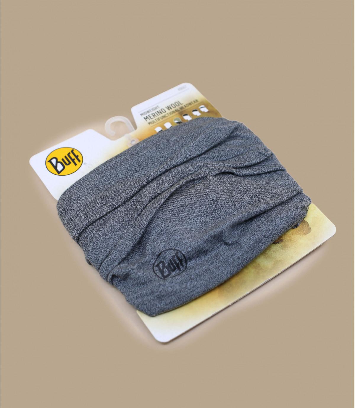 Buff laine mérinos gris chiné