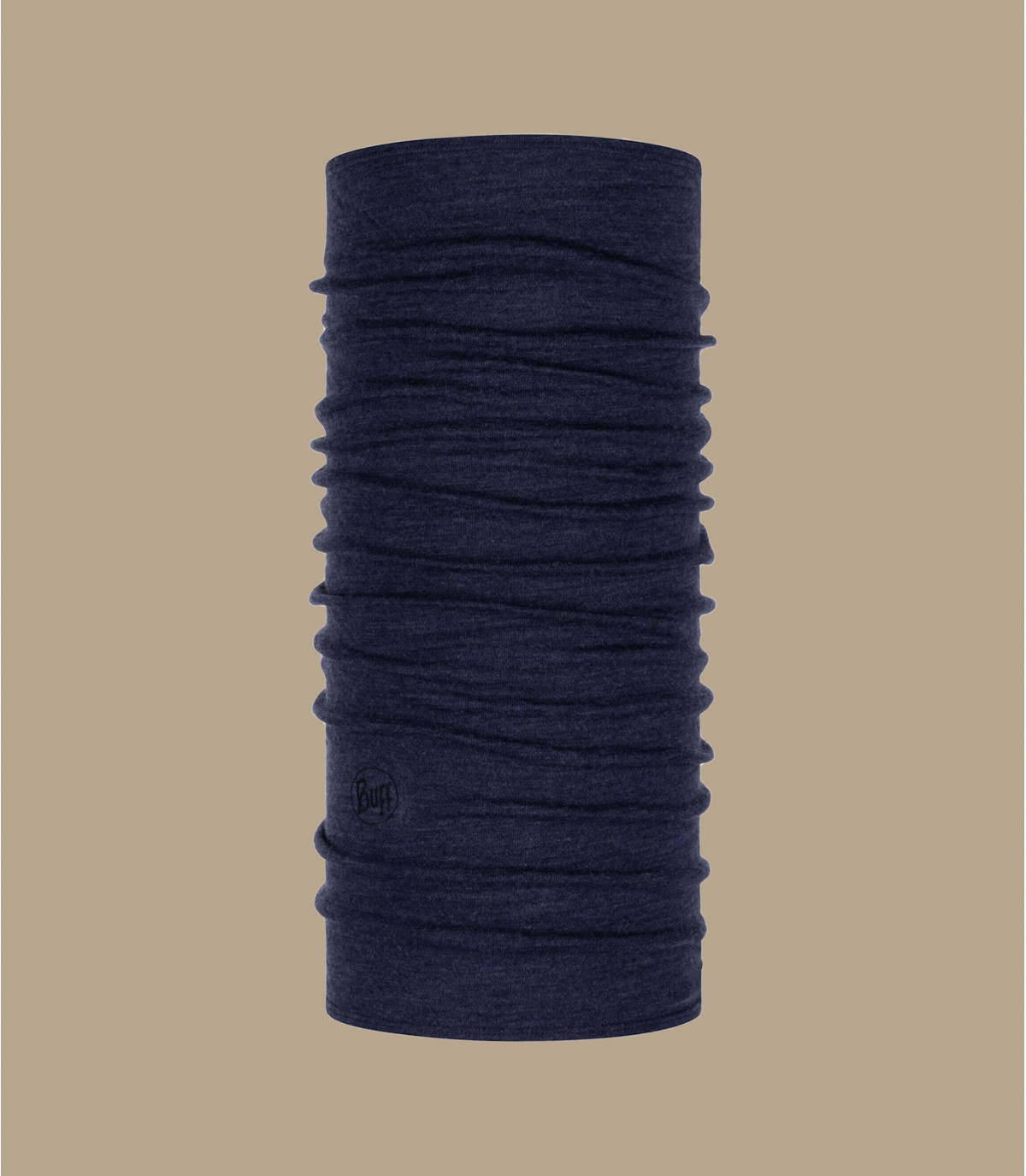 Buff laine mérinos bleu chiné