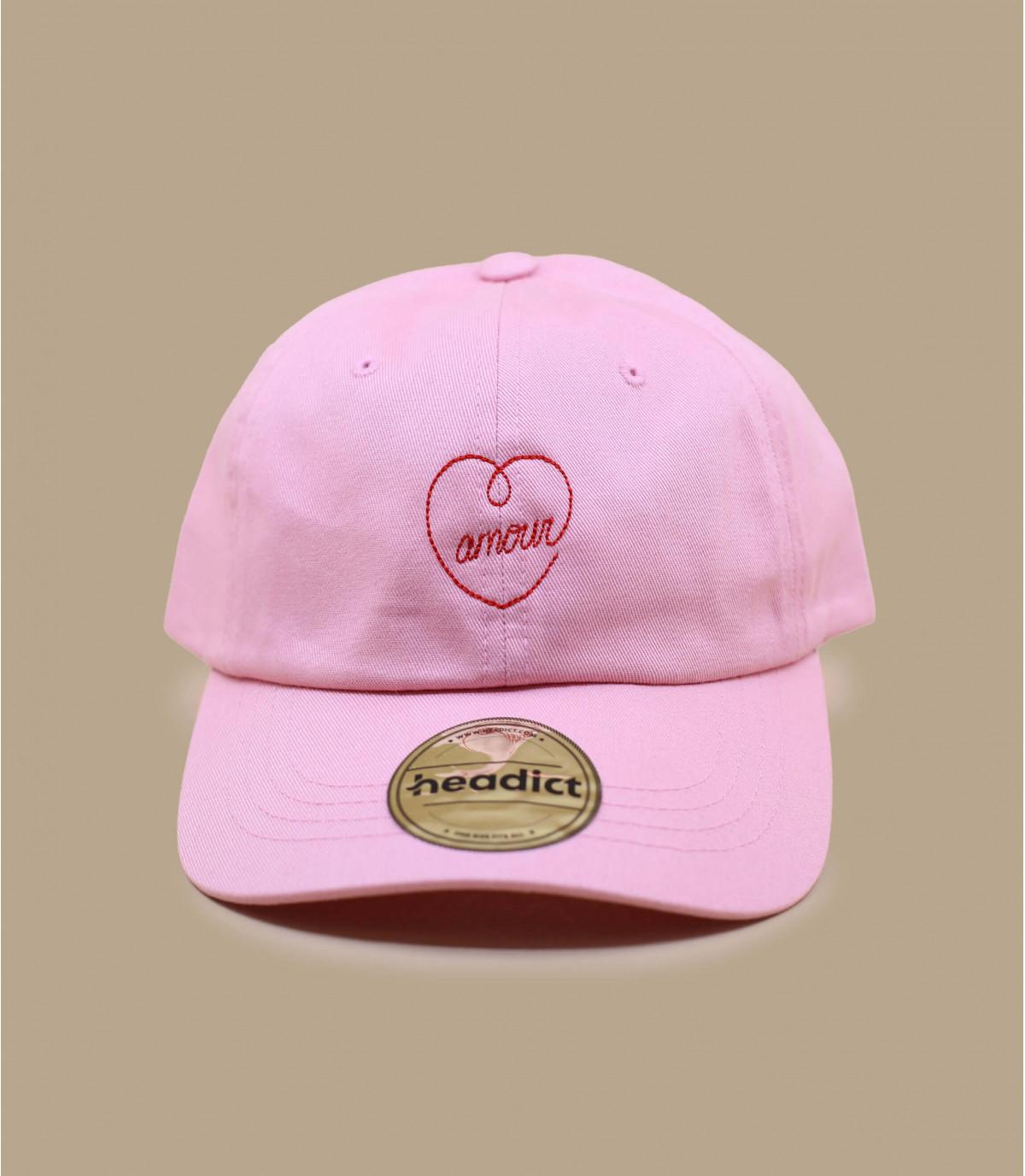 casquette amour rose