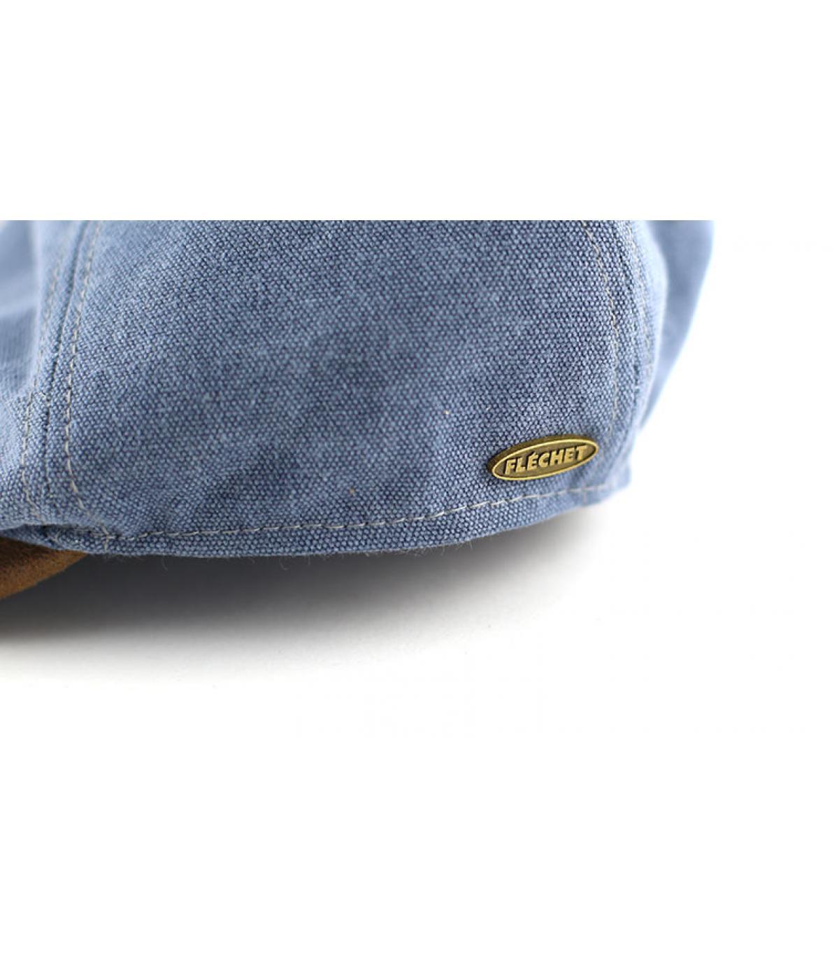 Détails Casquette plate canvas jeans - image 3