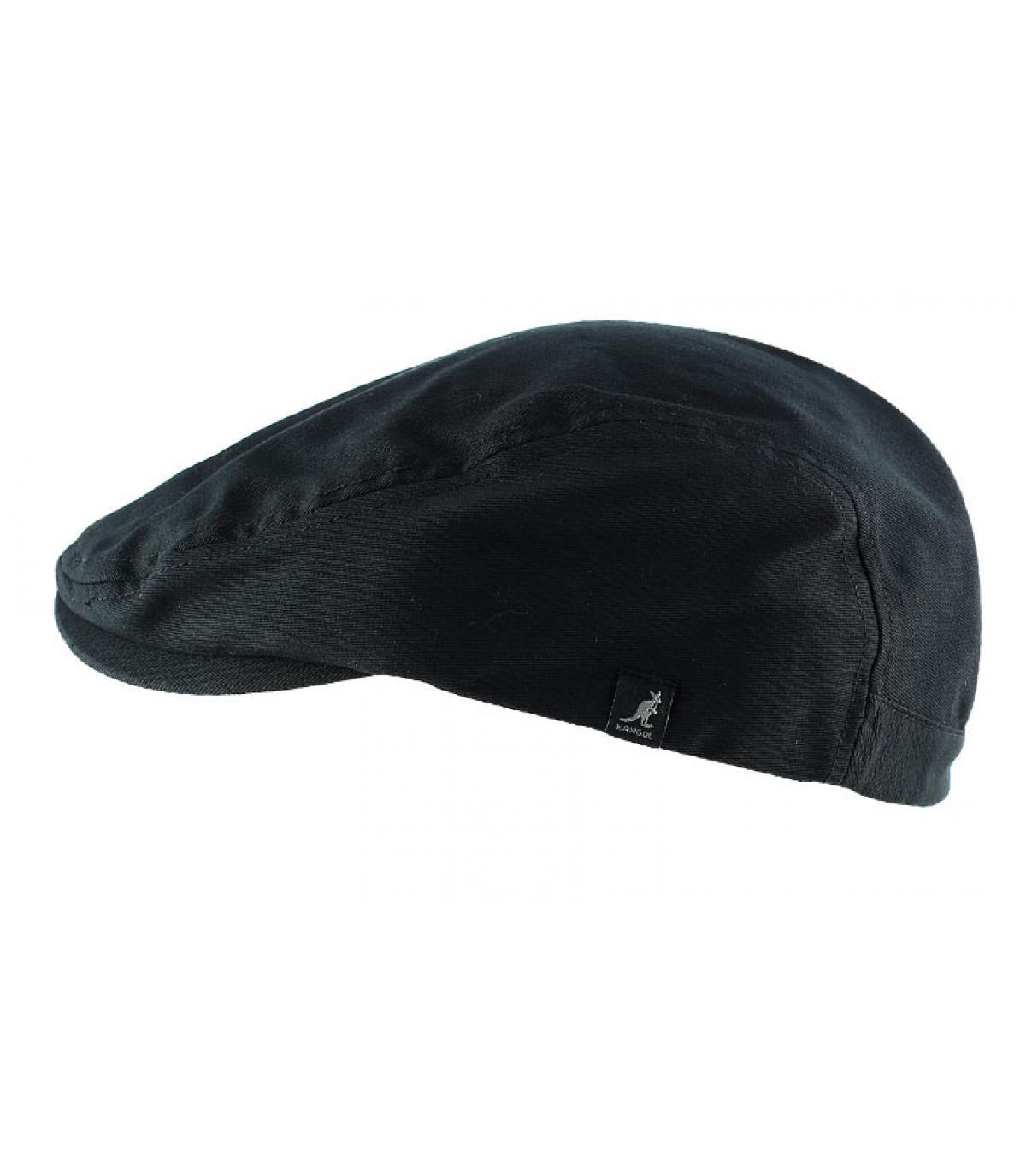 Casquette plate noire Kangol