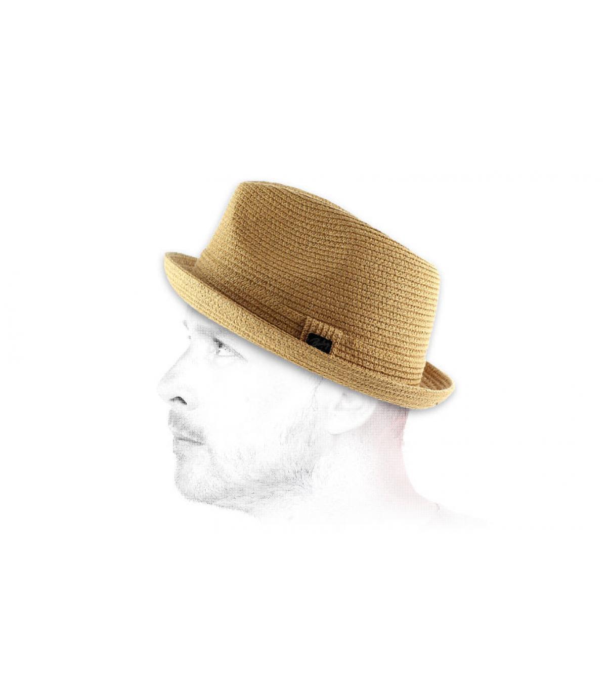 Chapeau paille trilby homme