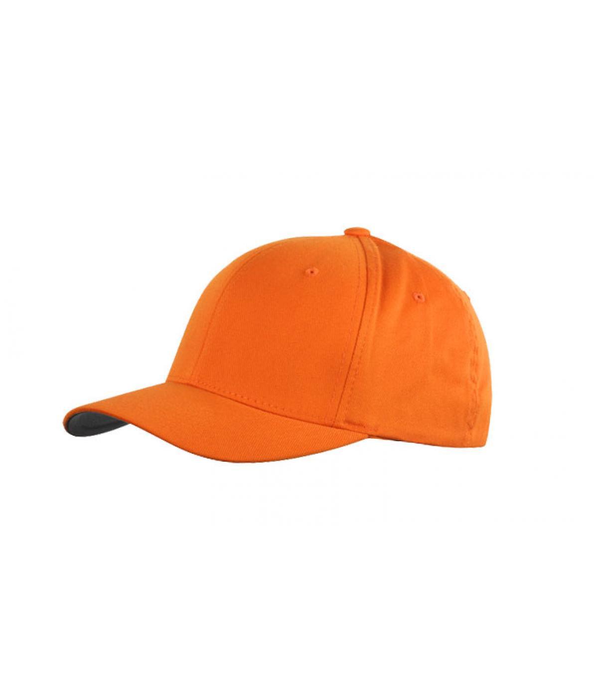 Détails Casquette orange flexfit - image 2