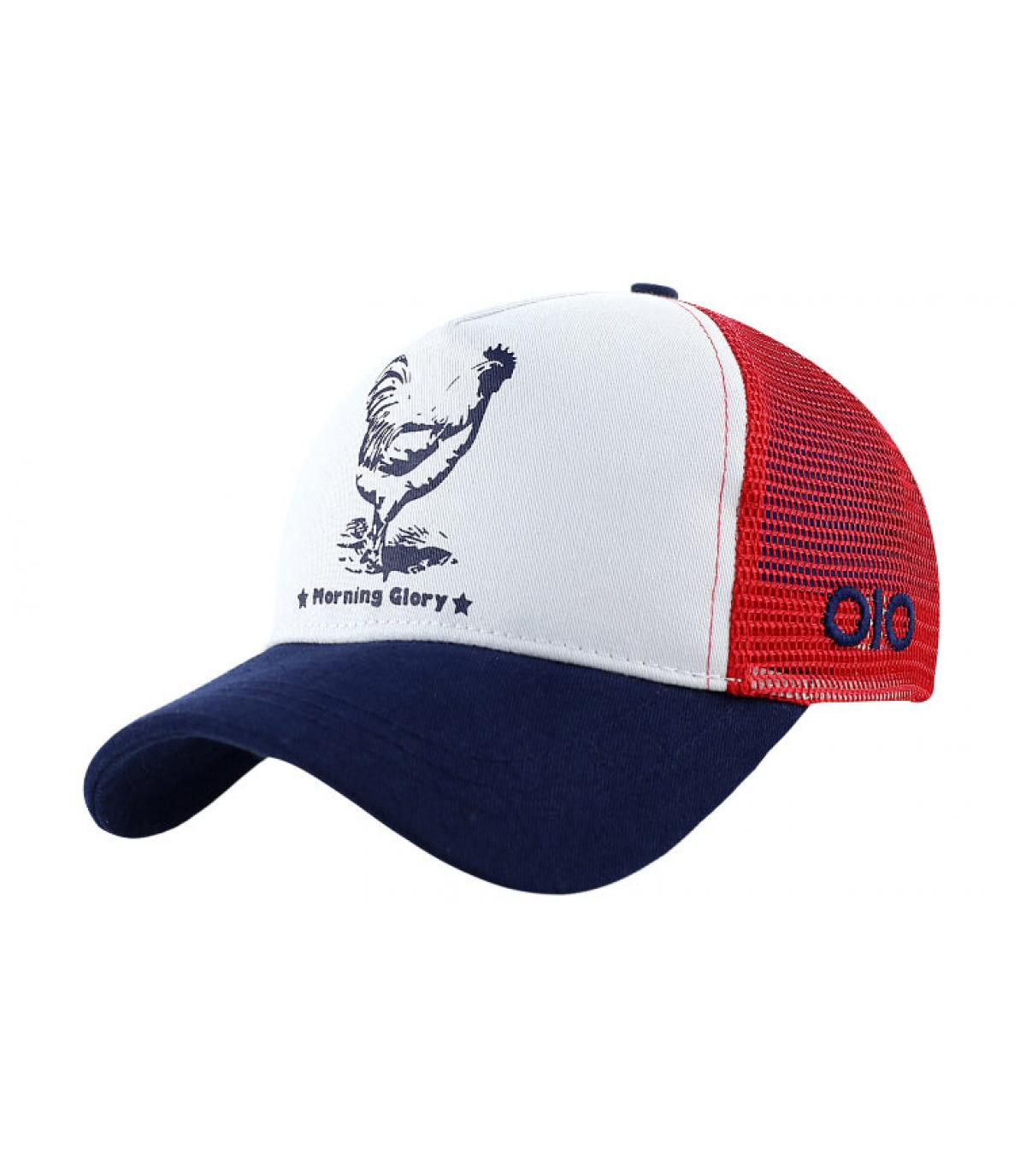 casquette bleu blanc rouge
