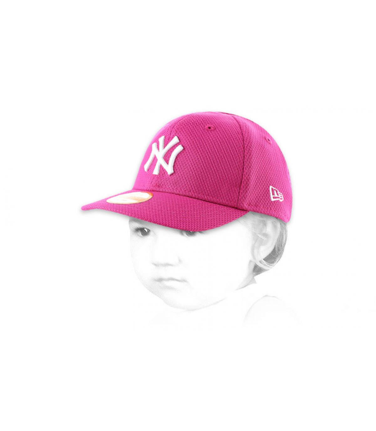 Casquette rose enfant