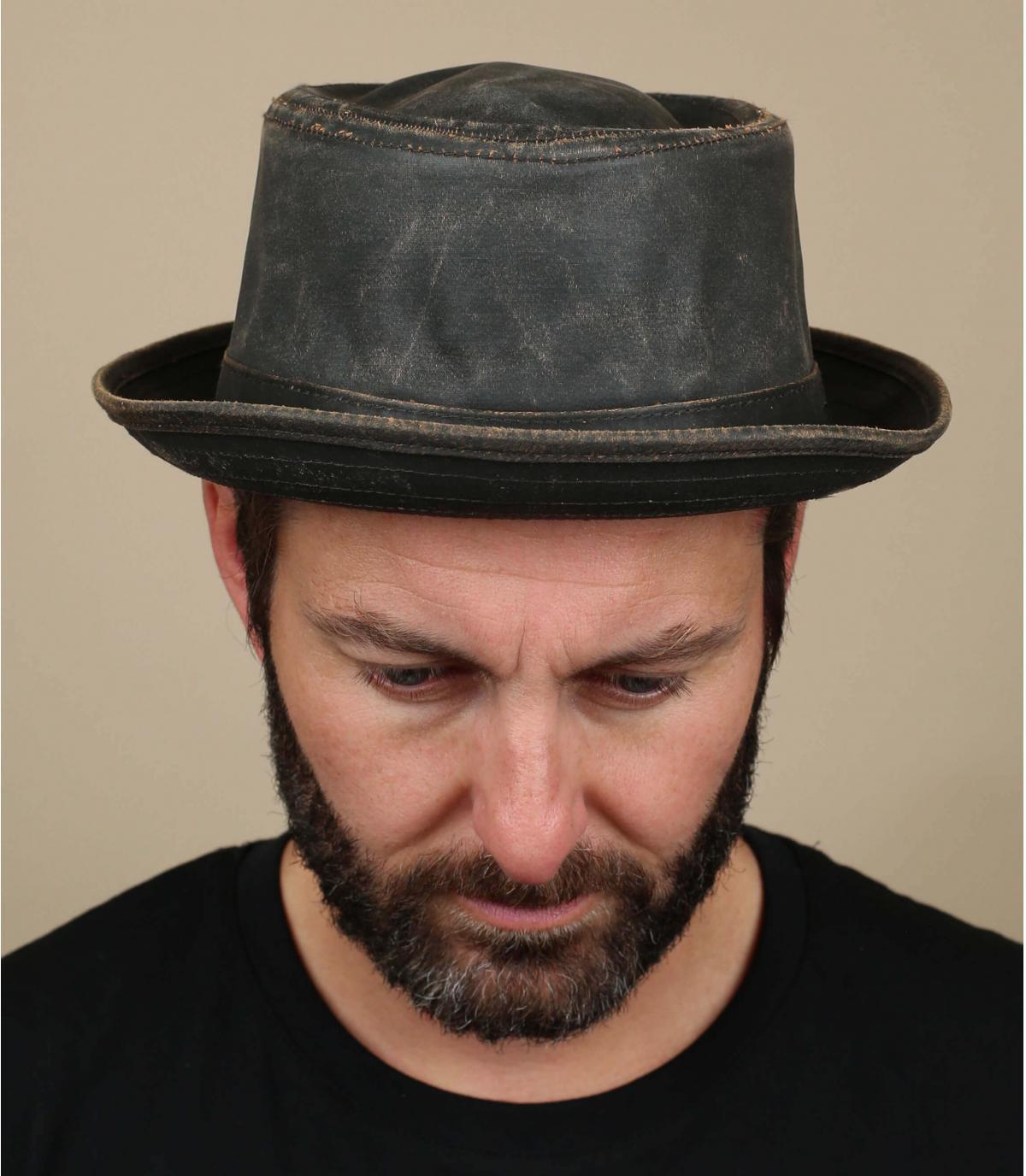 chapeau pork pie vieilli