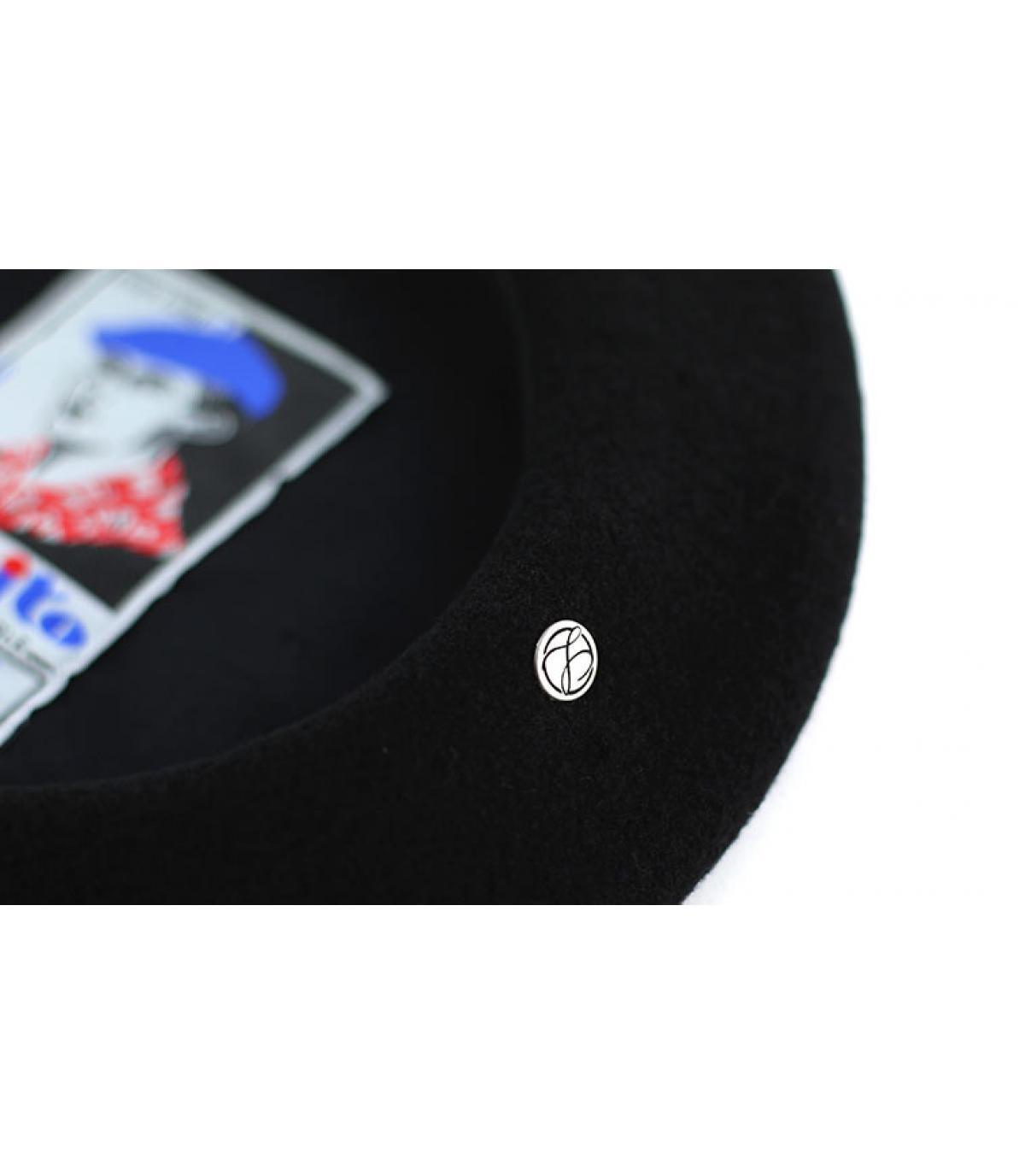 Détails Beret français Pedrito noir - image 3