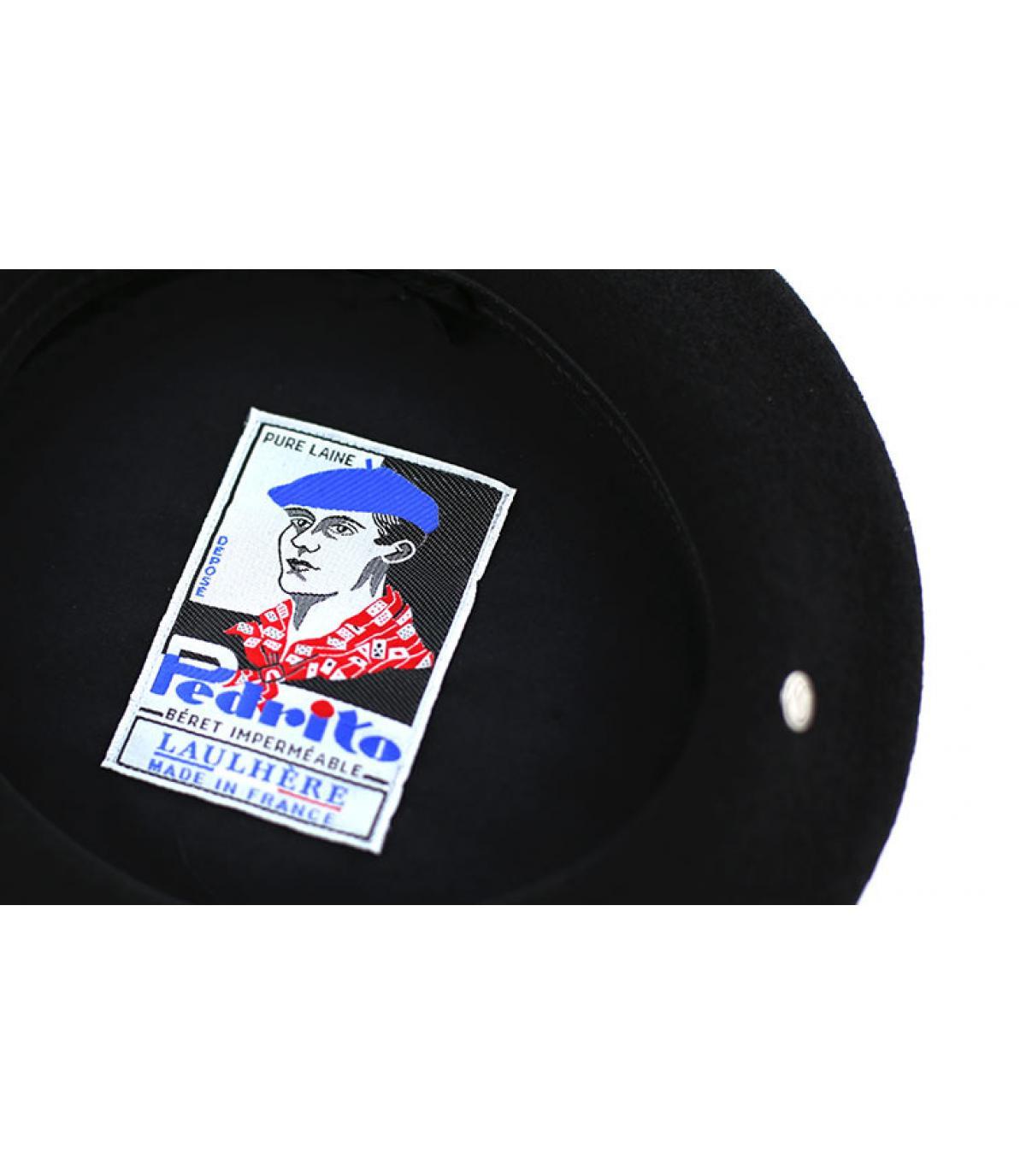 Détails Beret français Pedrito noir - image 4