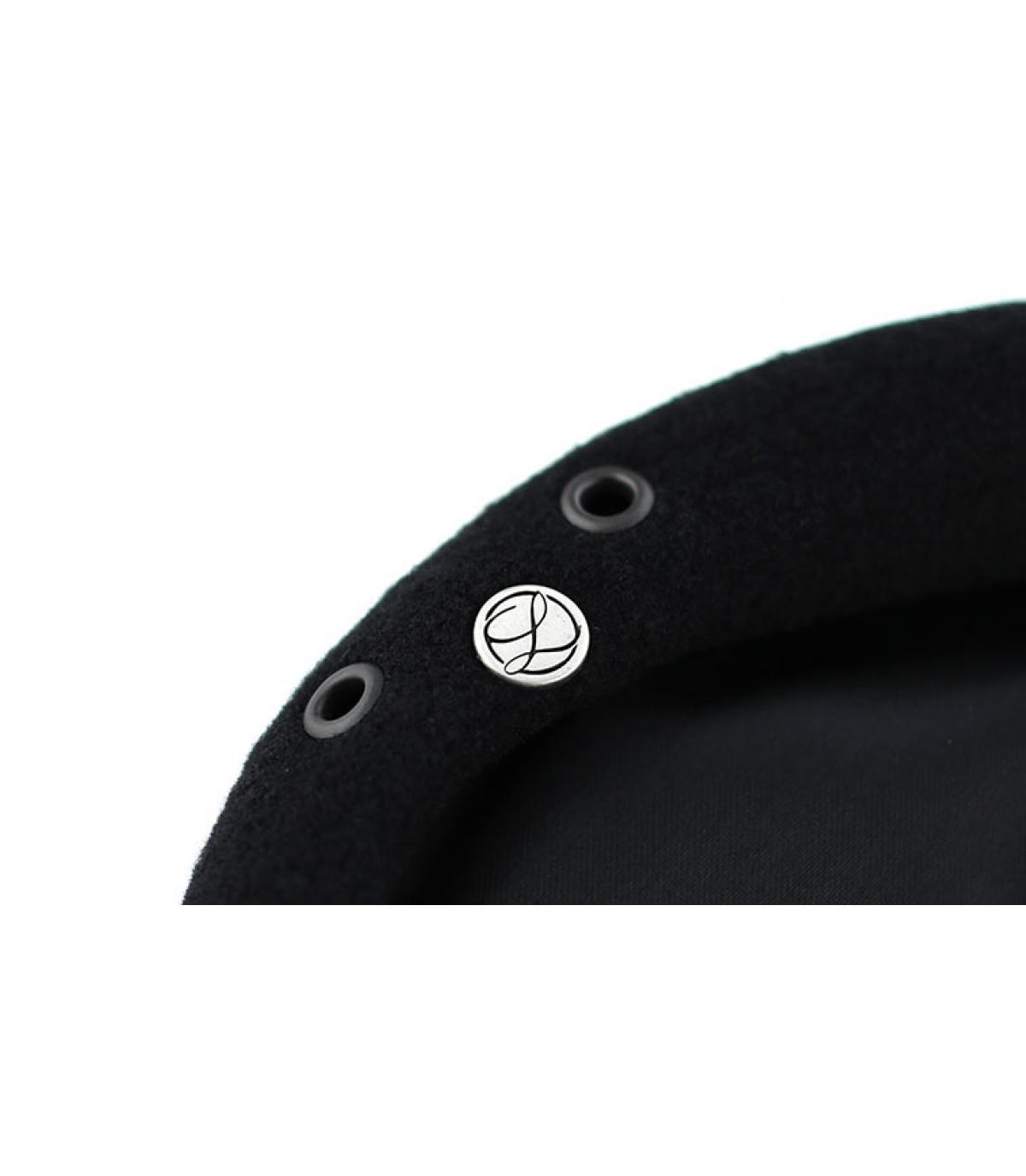 Détails Beret commando noir noir - image 3