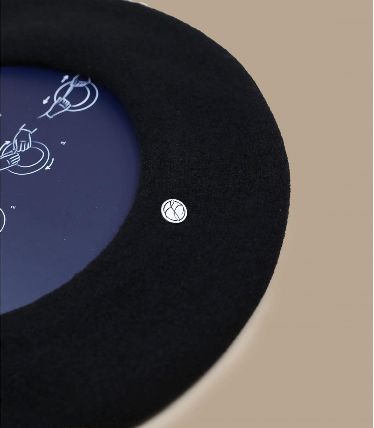 Détails L'authentique beret basque noir - image 3