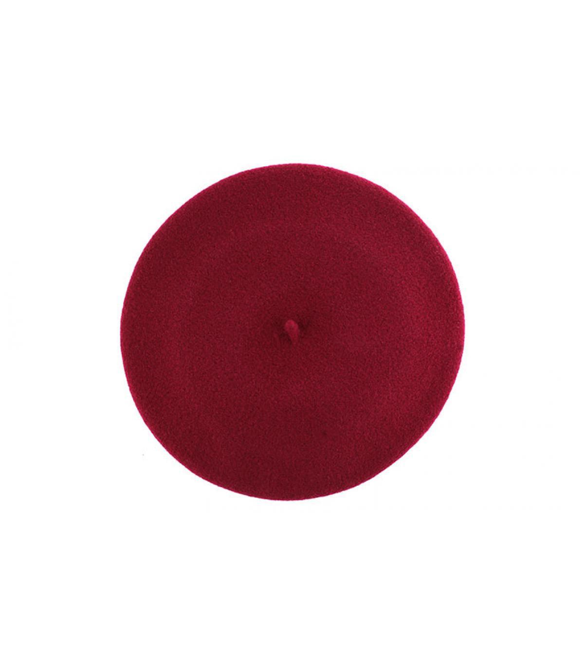 Béret élastique rouge