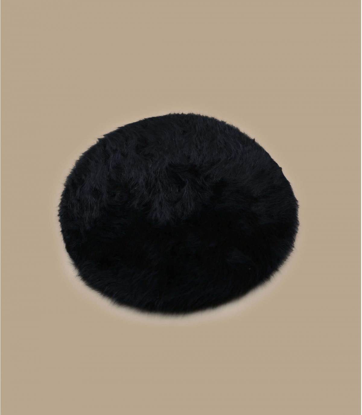Détails Beret angora noir - image 2