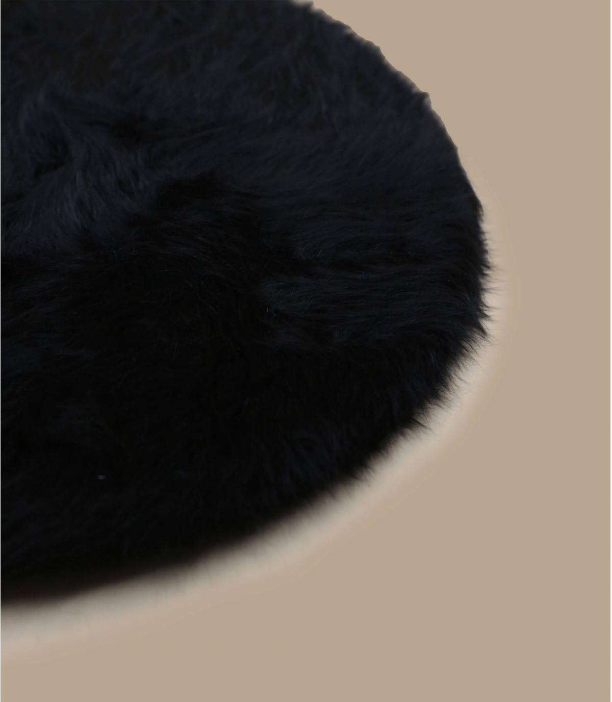Détails Beret angora noir - image 3
