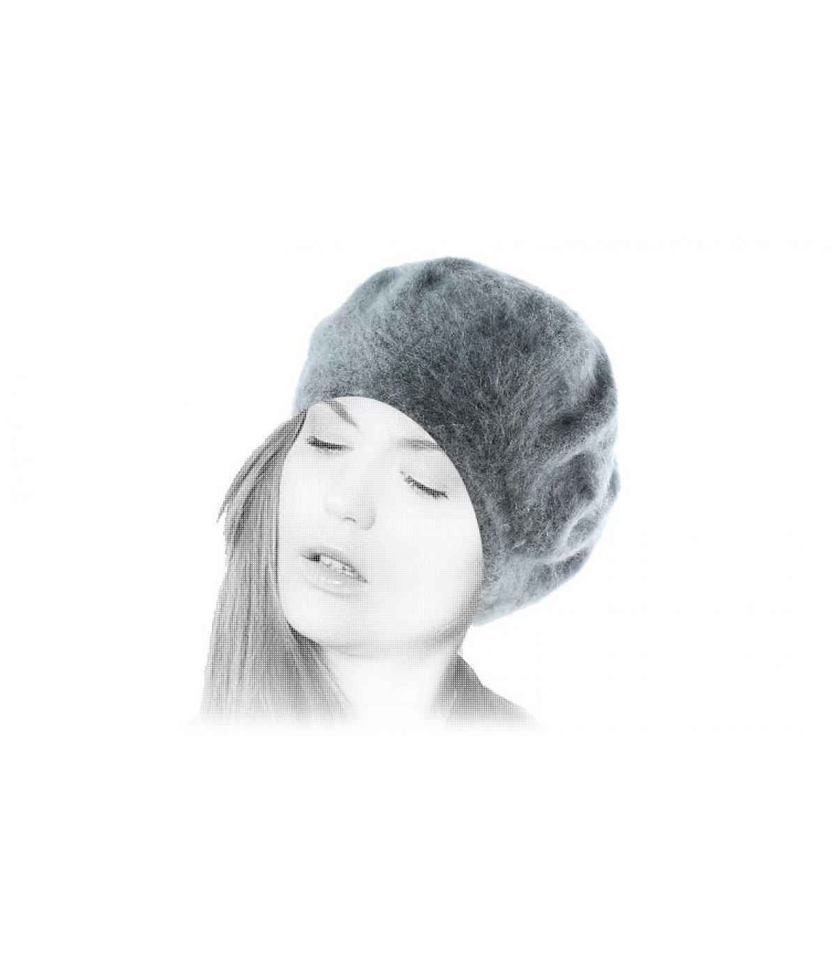 Bonnet angora femme