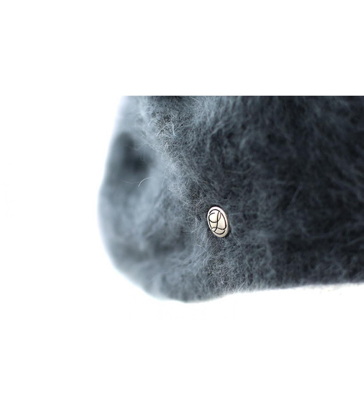 Détails Beret angora anthracite - image 3