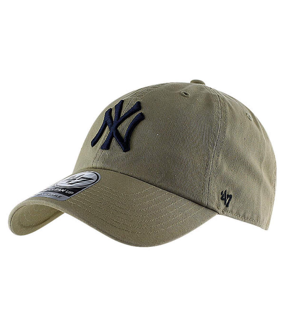 Casquette visière courbée NY beige