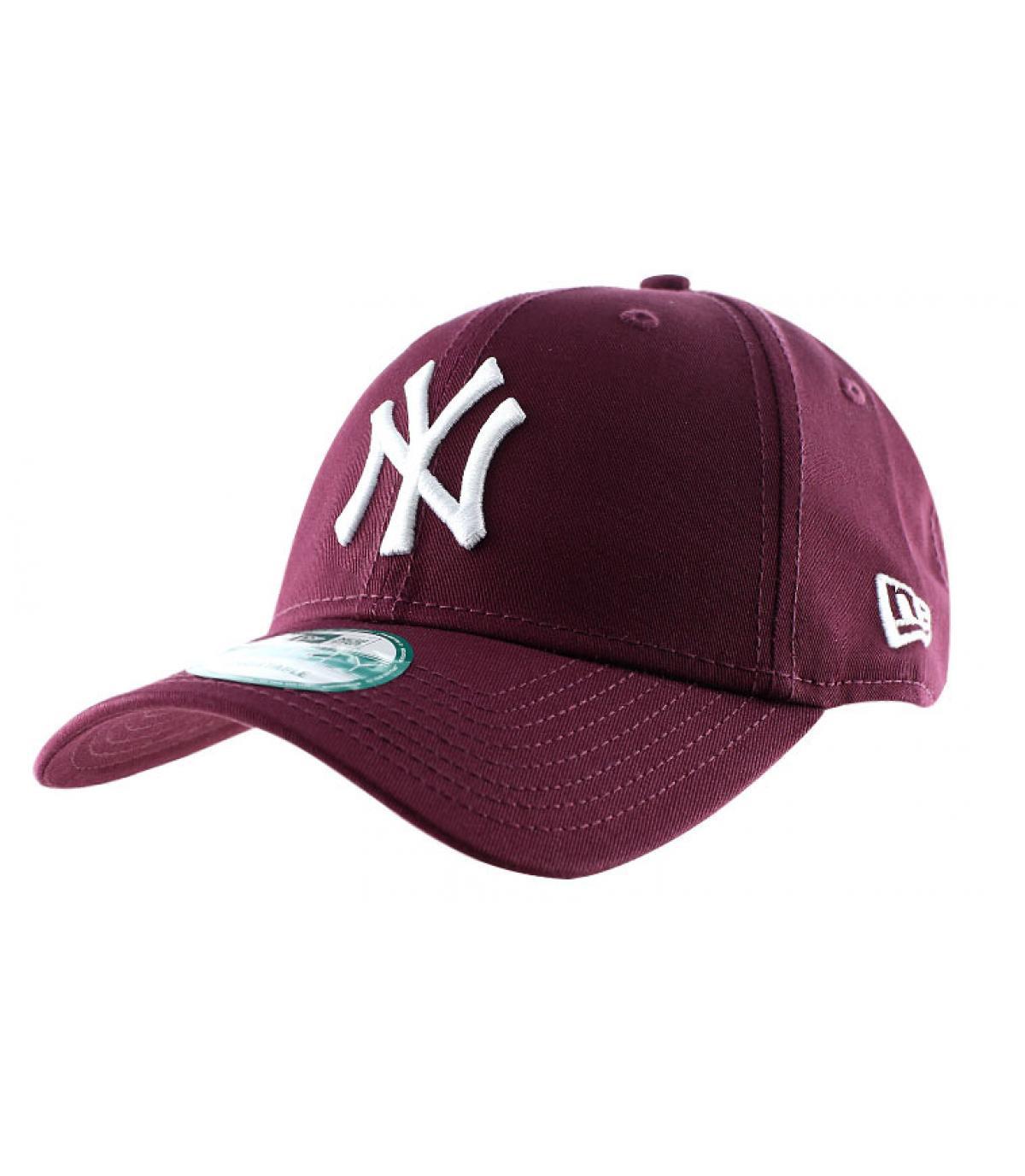 Détails Casquette NY league essential maroon - image 2