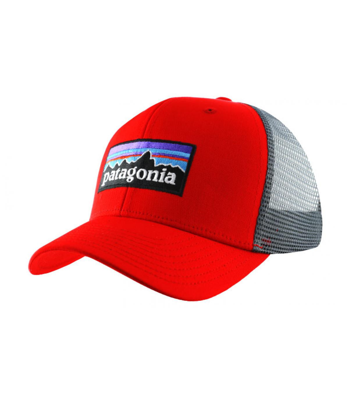 Détails P6 logo trucker hat french red - image 2