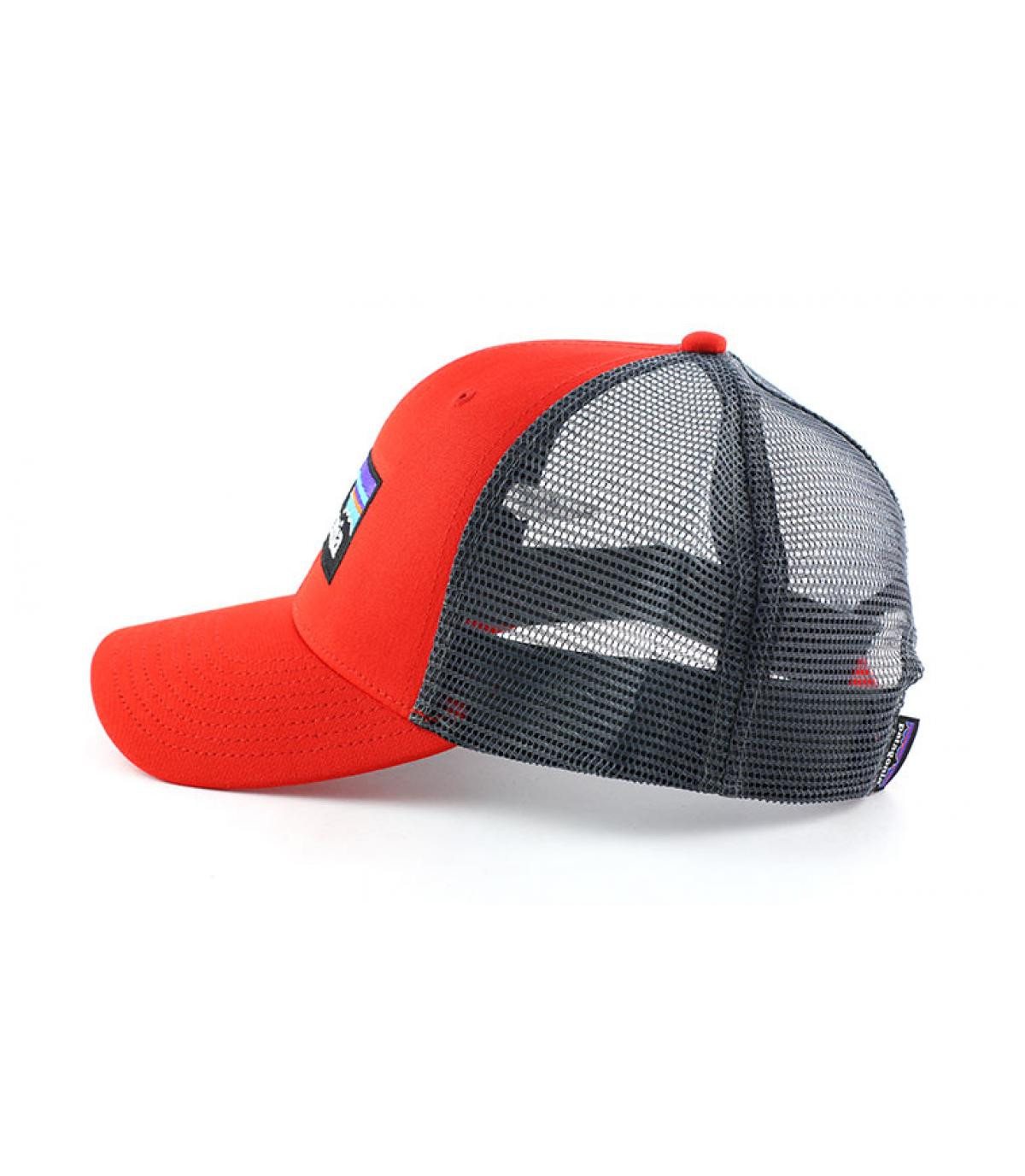 Détails P6 logo trucker hat french red - image 4
