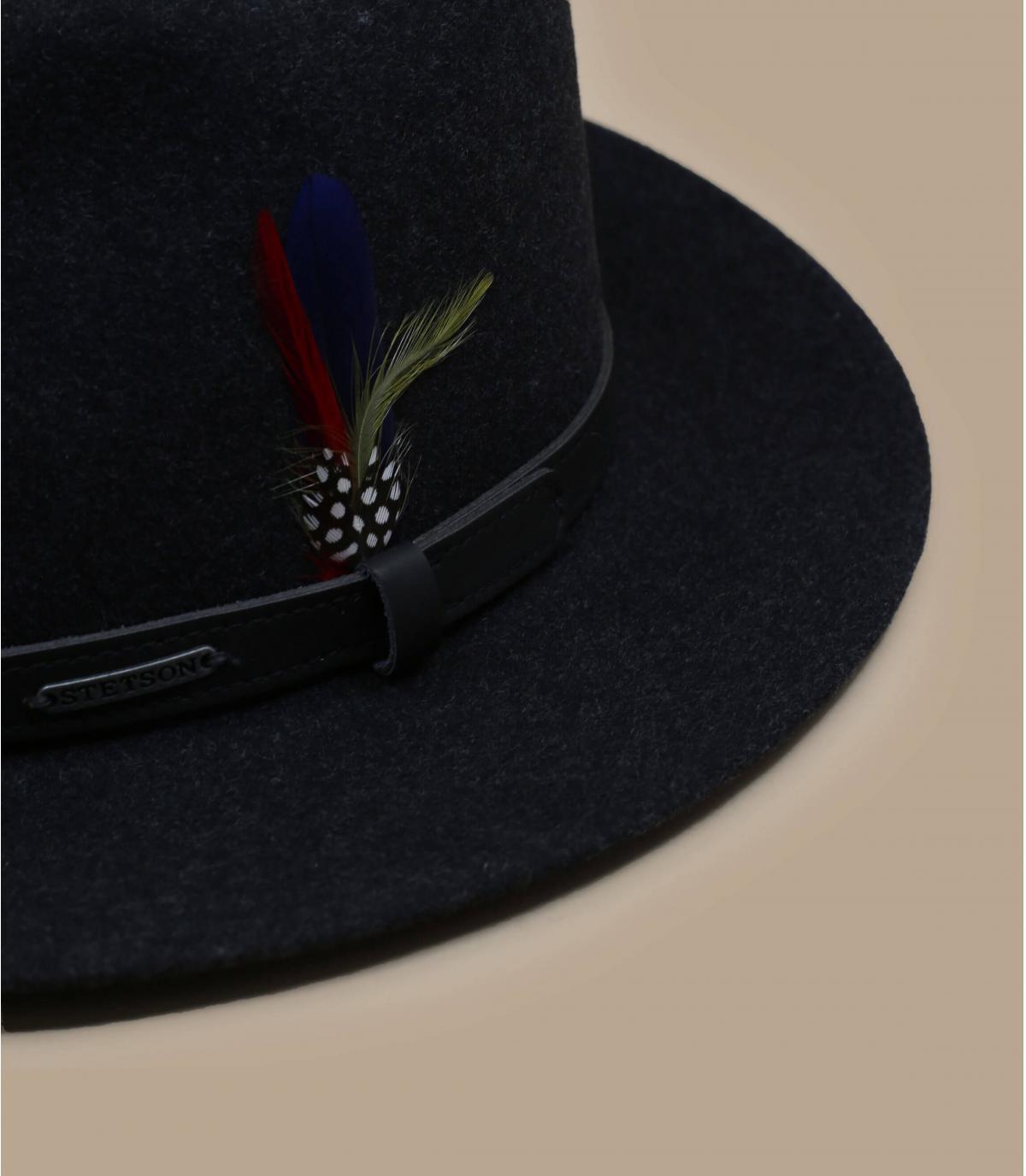 Chapeau feutre de laine noir