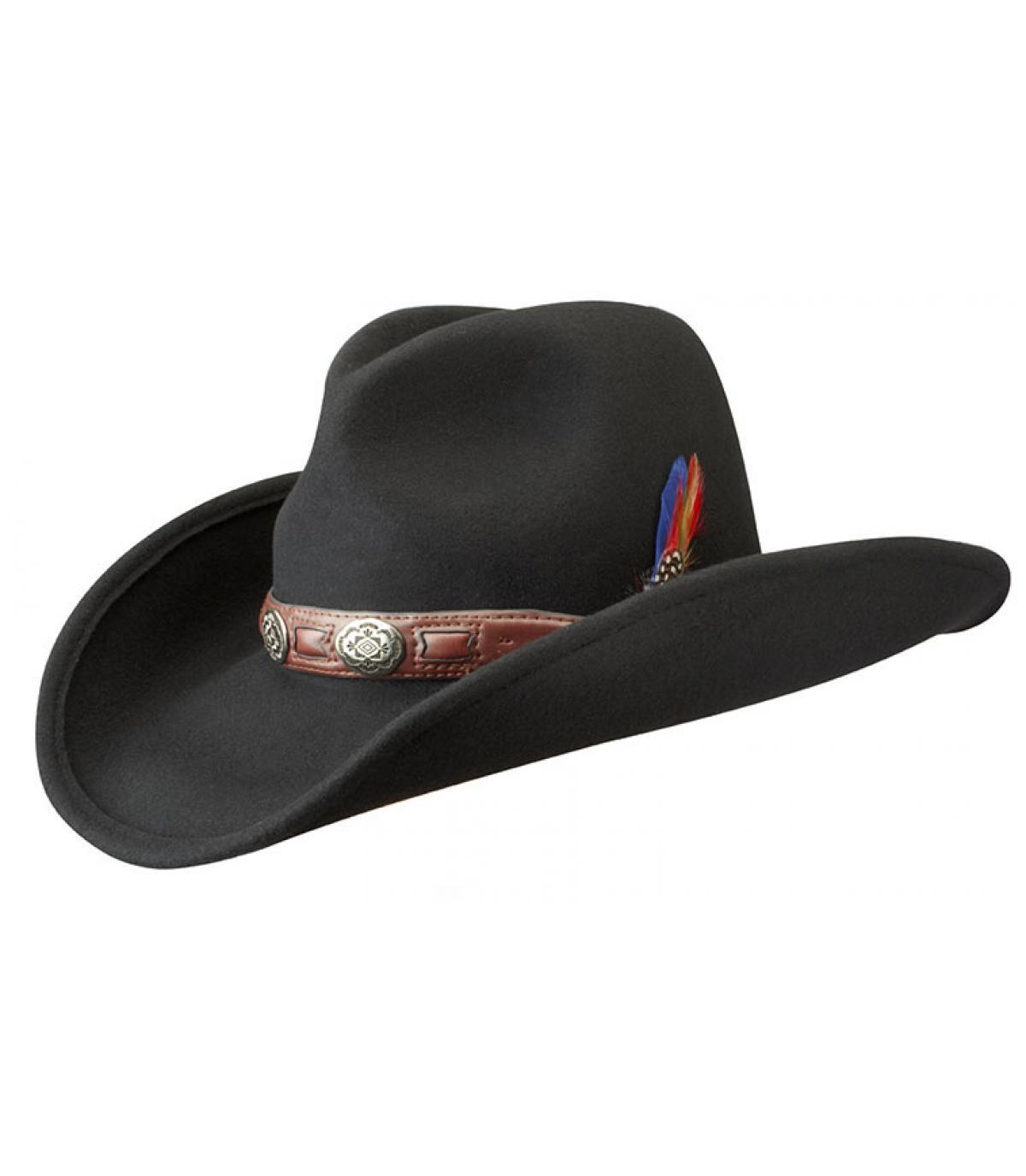 chapeau cowboy stetson alabama roy black par stetson headict. Black Bedroom Furniture Sets. Home Design Ideas