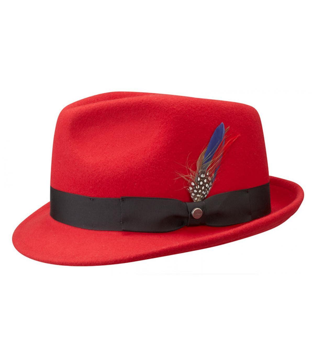 Chapeau rouge pour homme
