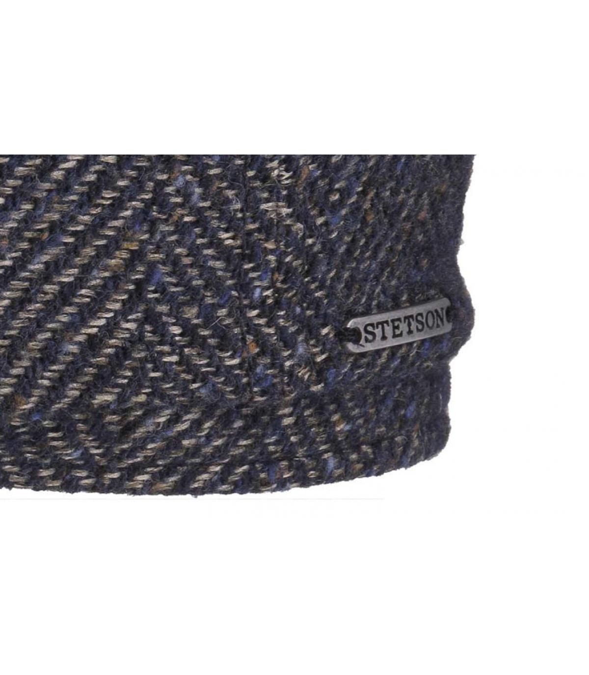 Détails Oregon wool linen bleu - image 3