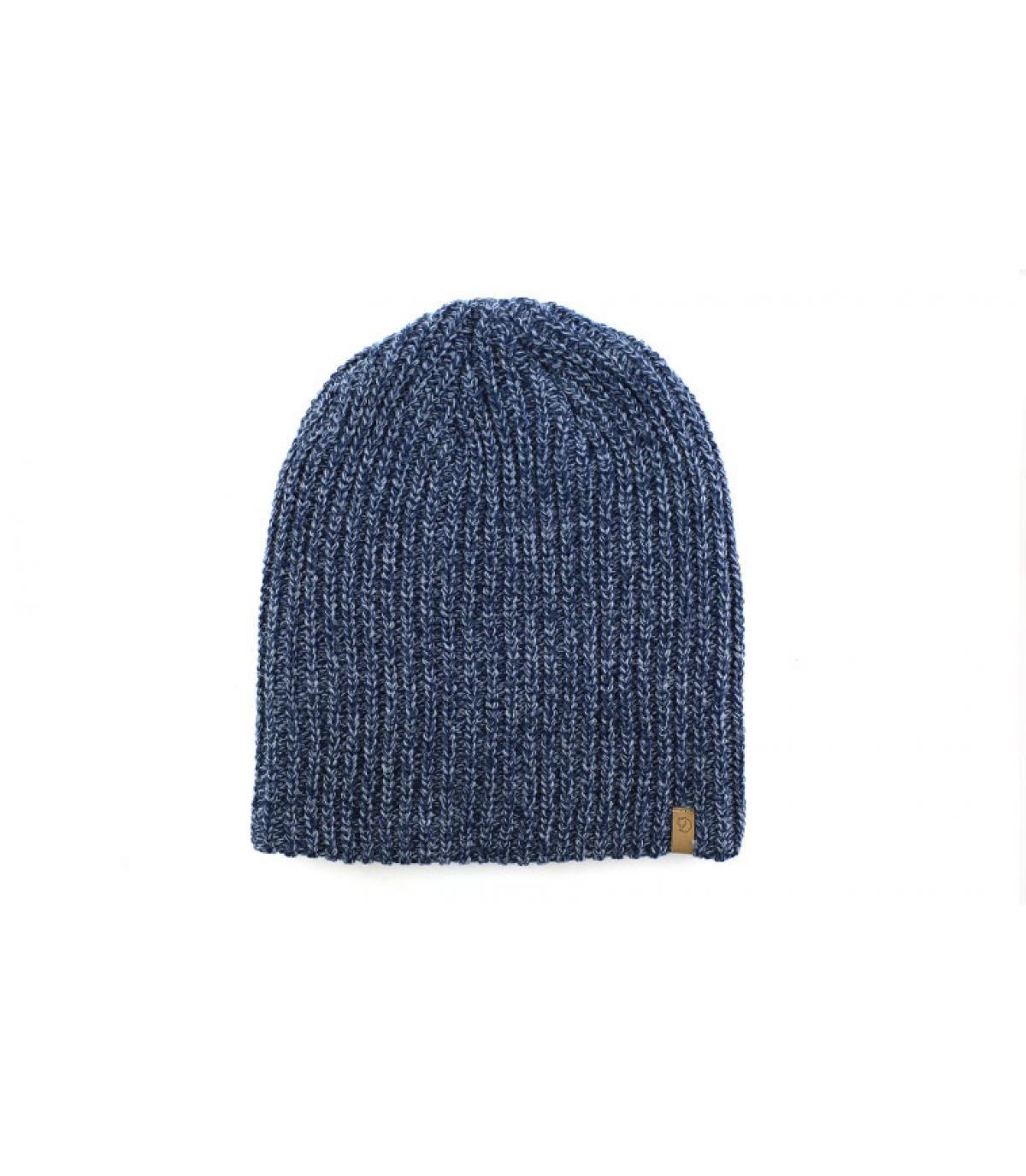 bonnet long bleu