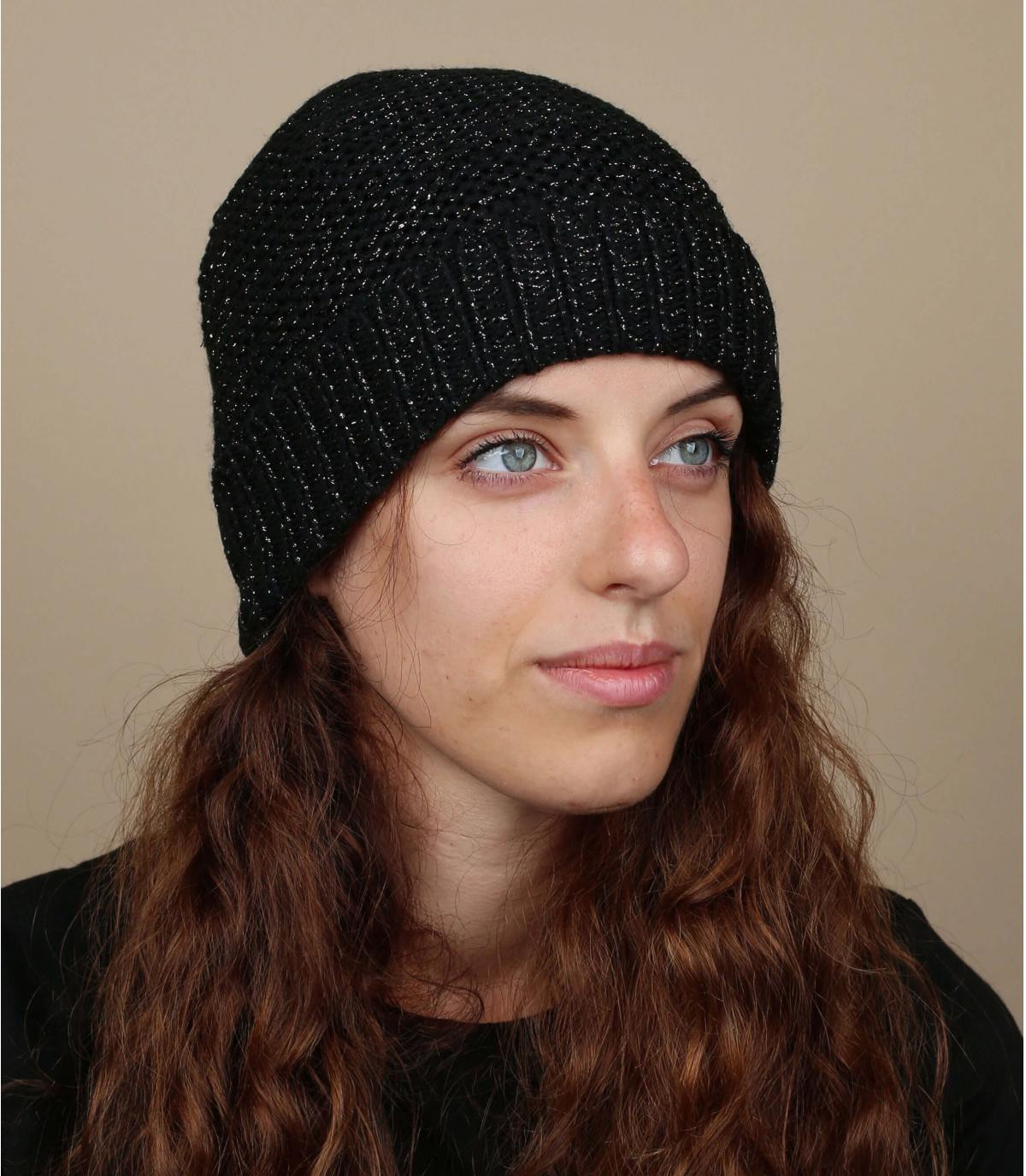 Bonnet noir doublé