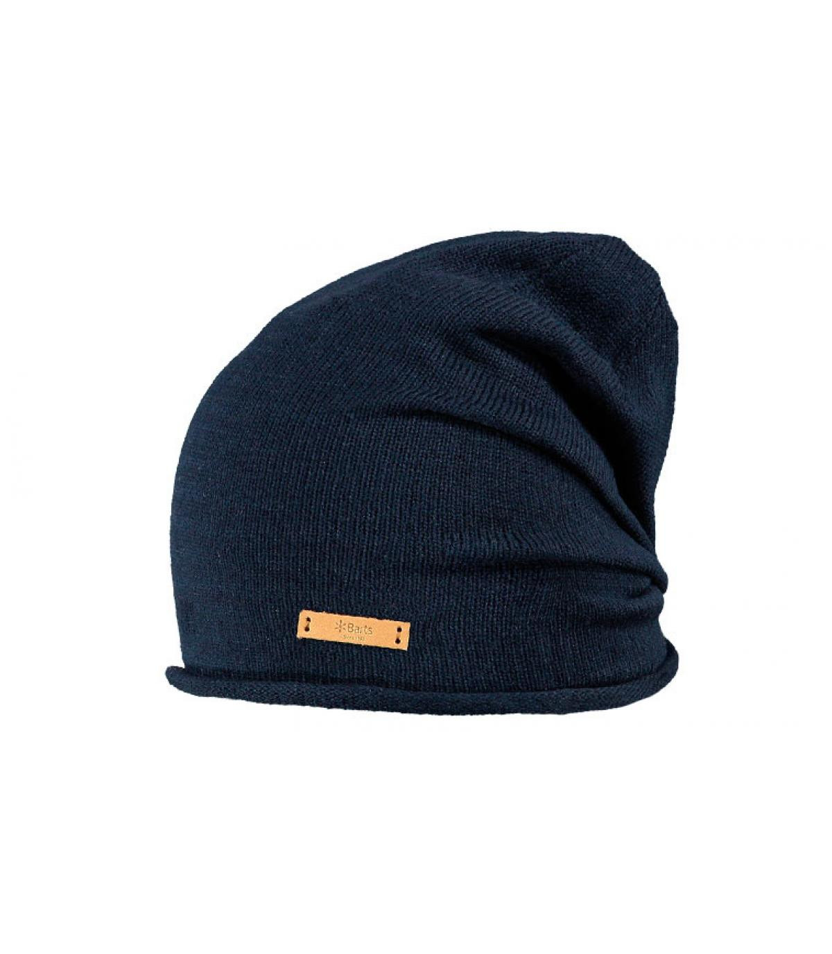 Bonnet long bleu foncé
