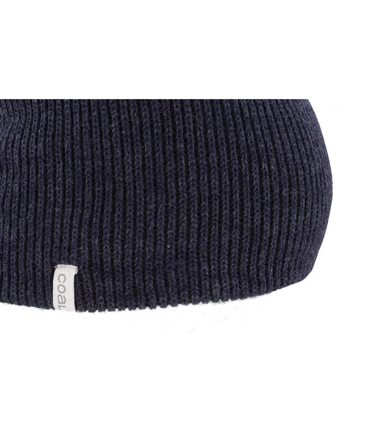 Bonnet long bleu chiné