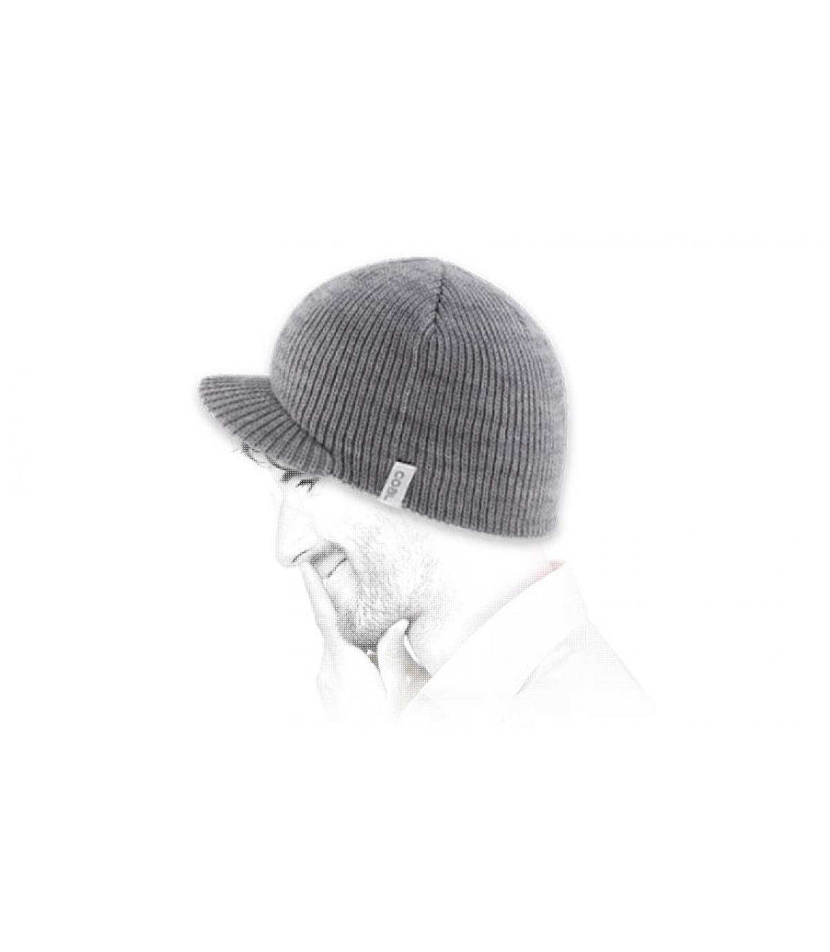 Bonnet visière gris