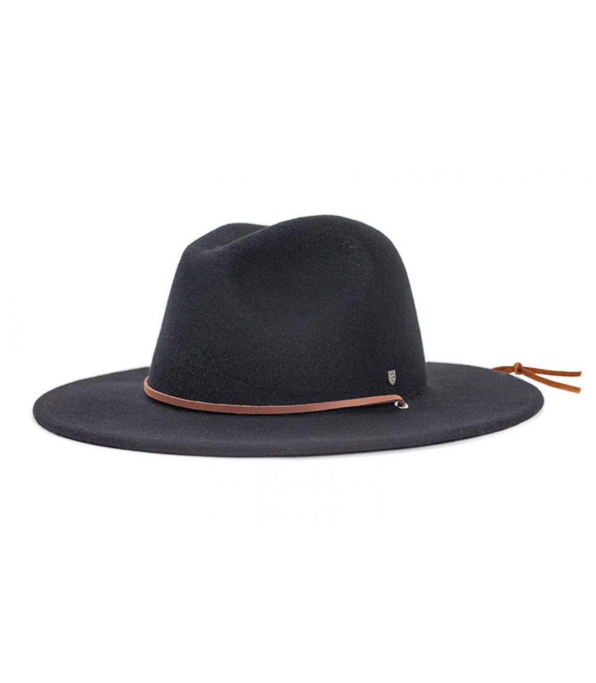 Chapeau bord long noir