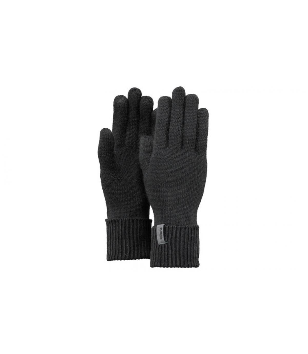 Détails Fine Knitted Gloves black - image 3