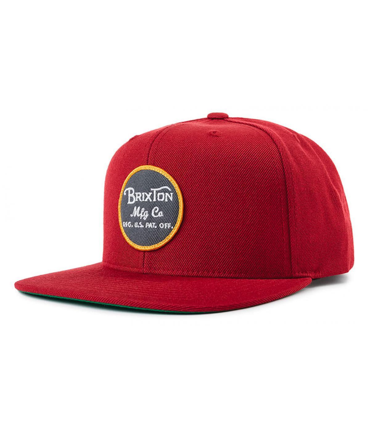 Snapback rouge patch Brixton