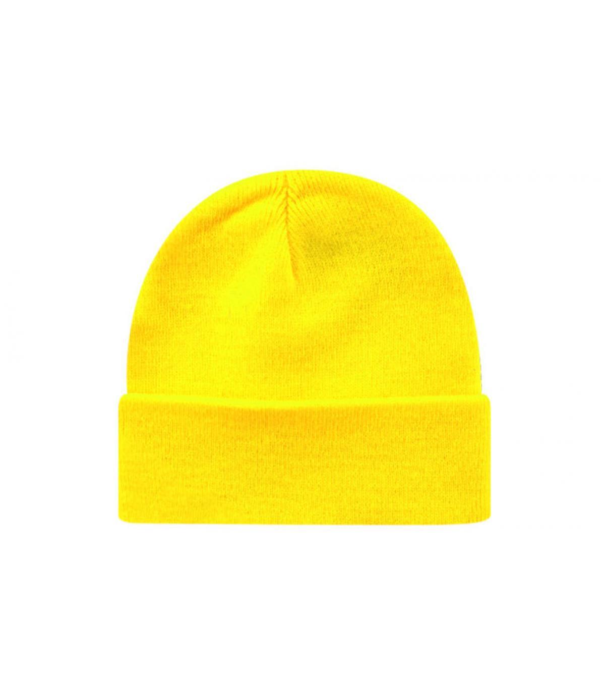 Bonnet blank jaune