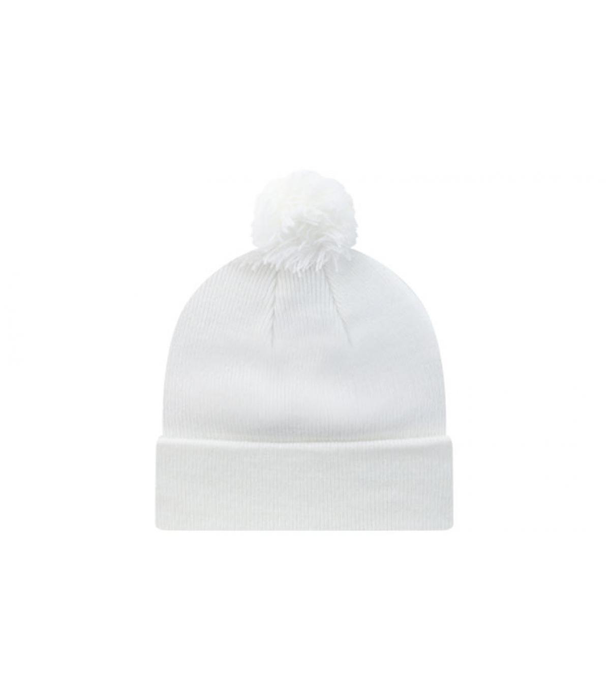 Bonnet pompon blank blanc